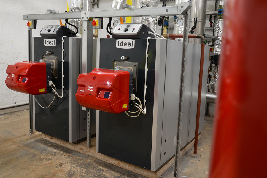 Ideal Commercial Boilers Evojet Condensing Pressure Jet Boilers at Duns Primary School, Scotland