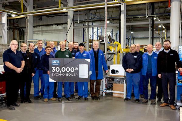 IDEAL COMMERCIAL MANUFACTURES 30,000th EVOMAX BOILER