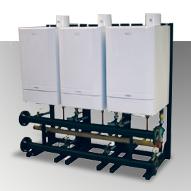 Evomax Cascade Commercial Boiler- High Efficiency-Simple Installation-Reduced headroom